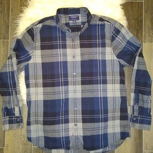 American Eagle Outfitters blue plaid flannel, XL